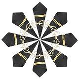 50 Piezas Conos de Arroz para Boda, Bolso boda para confeti o bolsa cucuruchos de papel kraft cono de arroz, cuerda de cáñamo, cinta de doble cara, etiqueta adhesiva (Color Negro)