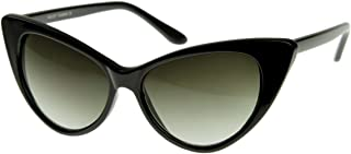 Super Cateyes Vintage Inspired Fashion Mod Chic High Pointed Cat-Eye Sunglasses