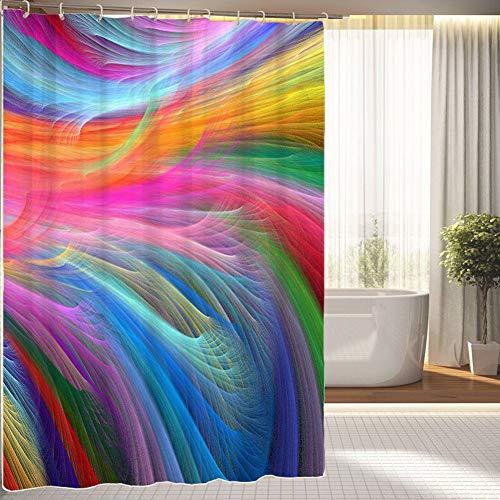 JOOCAR Badezimmer-Dekoration, marokkanisches Gitter, grau-weiß & grau, wasserdichter Polyester-Duschvorhang mit 12 Haken, Größe: 152,4 x 182,9 cm, Polyester-Stoff, C25, 72x72 Inch