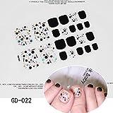 Pegatina de uñas,Pegatinas de uñas de los pies Bronceado, Adhesivo de Brillos de Plata para Decoraciones de pies DIY, 22Tips Art Wraps Craft Stickers.D SRD3