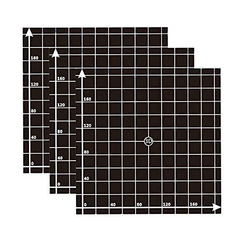 Furiga 3D Printer Build Surface Sticker Platform 220 x 220 mm per anet a6 a8 wanhao i3 3PCS