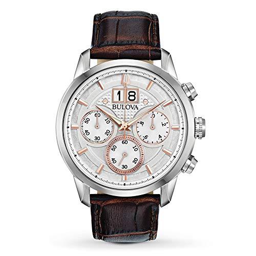Bulova Reloj Cronógrafo para Hombre de Cuarzo con Correa en Cuero 96B309