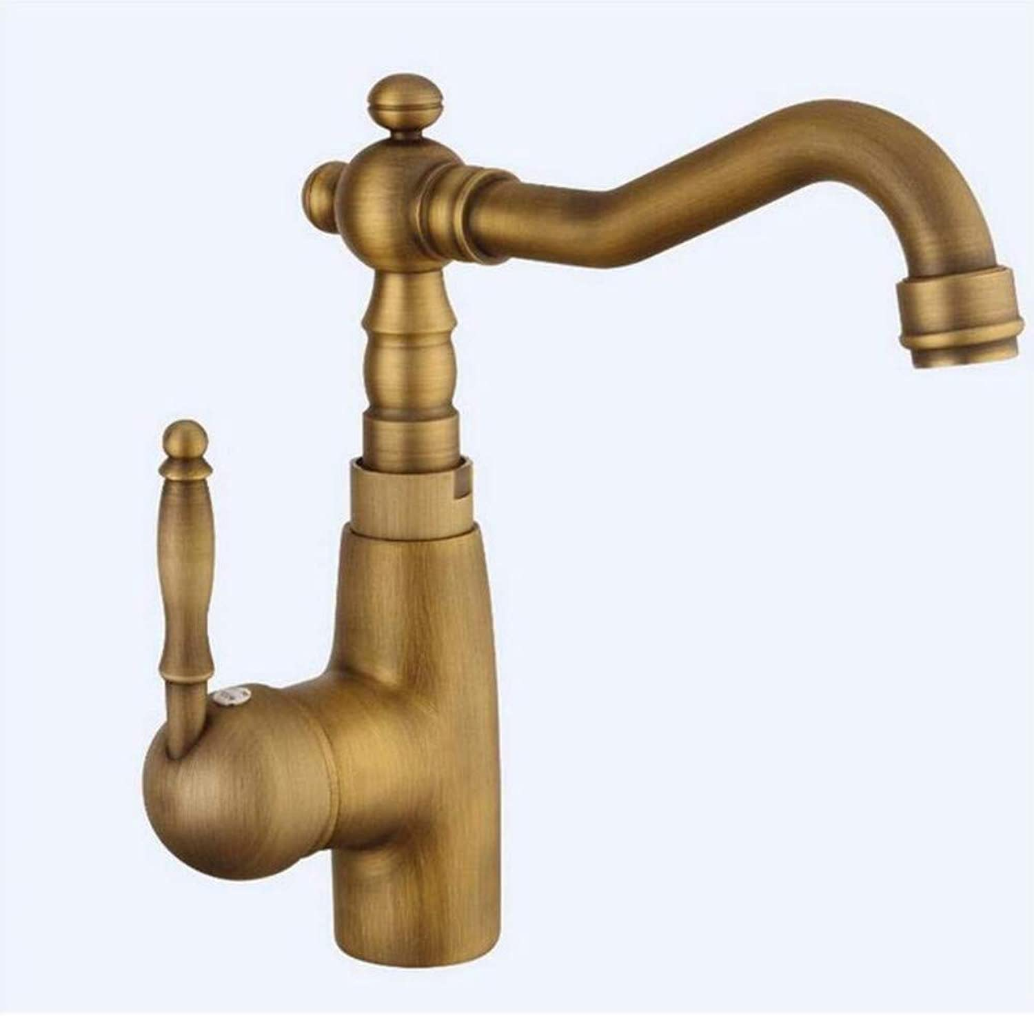 Ceramic Crane Cold and Hot Kitchen Sink Tap Water Mixers Brass