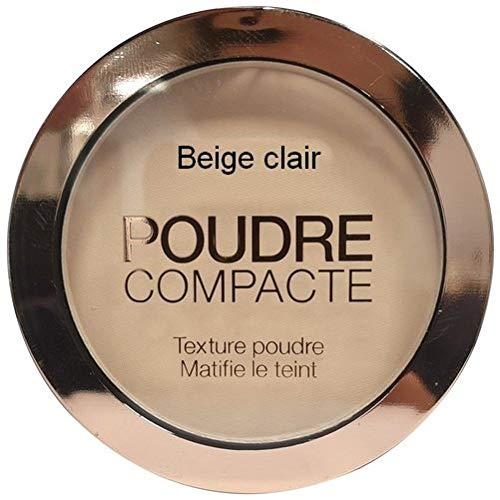 Poudre compacte pour le maquillage, matifiante, couleur beige clair, 10 gr