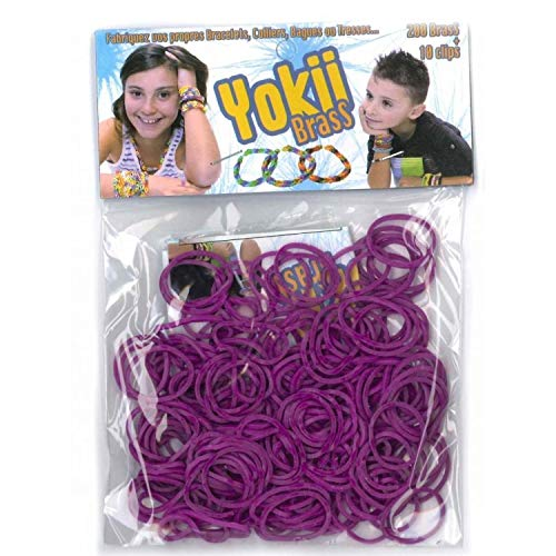 Elastiques pour bracelet YOKII Brass Violet - Loom Bands