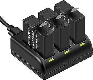 Zonhood GoProバッテリー GoPro Hero 7black/Hero 6/Hero 5/gopro hero (1220mah 互換バッテリー 3個✚充電器) 3個同時充電 Micro USB+Type-C 急速充電可能