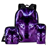 School Bags, Children's Backpacks, 3d Wolf Pattern School School School Bags, Boys And Girls School Bags, Student Bags Z2266CED