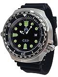 XXL 52mm 1000m Diver Watch Sapphire Glass Helium velve T0265