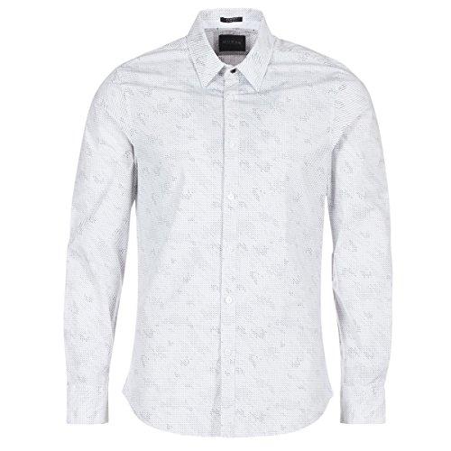 Guess KITYTO Hemden Herren Weiss - S - Langärmelige Hemden