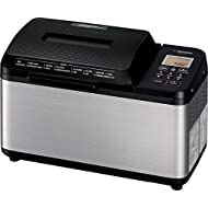 Zojirushi Home Bakery Virtuoso Plus Breadmaker, 2 lb. loaf of bread, Stainless Steel/Black