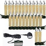 24 LED Weihnachtskerzen mit Stecksystem (Aussen/IP44)