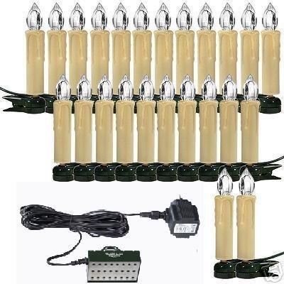 Trango TG340047 24 LED Weihnachtskerzen mit Stecksystem Außenbereich warm-weiß