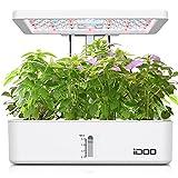 iDoo Sistema de Cultivo Hidropónico, Smart Indoor Garden con luz de Invernadero LED, Plantas de jardín Inteligentes con Temporizador, Hierbas para Interior, Altura Austable, 12 pods
