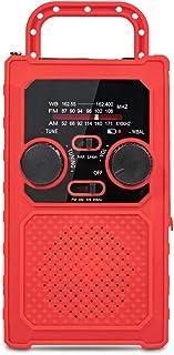 GJHK Radio D'éclairage Multifonctionnel À Manivelle Portable, Charge d'urgence pour Téléphones Mobiles, Alarme d'urgence, ...