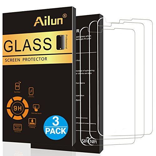 Ailun Screen Protector for LG Stylo 2 Ultra Clear 3Pack 2.5D Edge Anti Scratch Case Friendly Tempered Glass for LG Stylo 2 LG Stylus 2 Only Not for LG Stylo 3