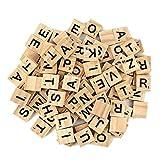 JieGuanG Lettre Scrabble Bois, 100 Pcs Lettre en Bois pour Lapprentissage des Langues La Décoration Murale