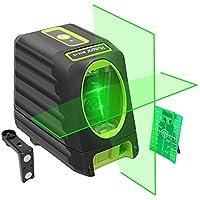 Nivel Láser, Huepar Nivel Laser Verde 45m con MODO DE PULSO, Autonivelante Líneas Cruzadas con 150° vertical/horizontal (Pro Precisión: ± 2 mm/ 10m), con 360 Rotación Soporte Magnético, BOX-1G