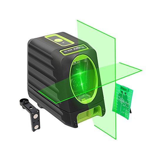 Huepar BOX-1G Nivel Láser Verde 45m, MODO DE PULSO, Pro Precisión: ± 2 mm/ 10m, Autonivelante Líneas Cruzadas, 150° vertical/horizontal, 360° Rotación Soporte Magnético+Carta objetivo+Bolsa Portátil