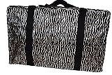schwarz Tier Zebra Streifen Aufdruck seidig Style Damen Einkauf über Nacht Wochenenden Reisetasche...