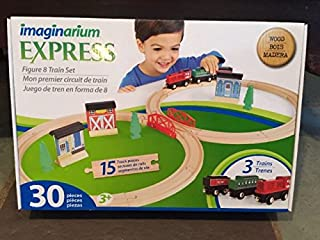Imaginarium Express Train Set - 30-Piece figure 8 Wood Train Tracks
