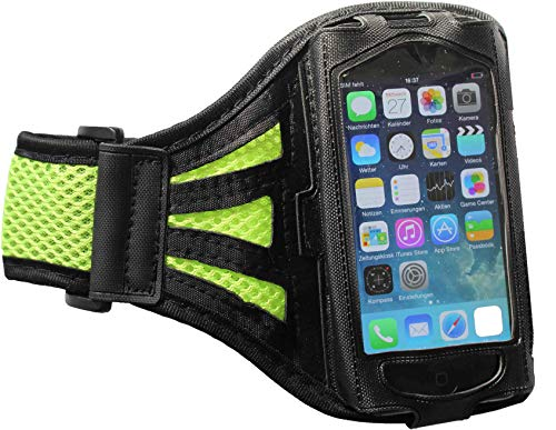 Fitness-Armband Jogging Oberarm passend für Samsung Galaxy S20 / S10 / S10 5G / S9 / S8 Sport Oberarm Joggen Oberarm Tasche Wasserfest Arrow Groß Grün