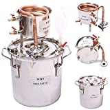 WMN_TRULYSTEP MSC03 Copper Alcohol Moonshine Ethanol Still Spirits Boiler Water Distiller, 20 Litres