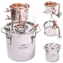 MSC03 Copper Alcohol Moonshine Ethanol Still Spirits Boiler Water Distiller, 20 Litres