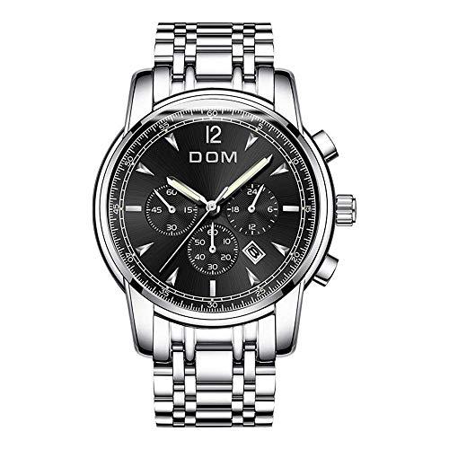 PXX horloges – minimalistische herenhorloges eenvoudig waterdicht 30 m kwarts sporthorloge roestvrij staal auto dag datum zakelijke kalender instelbaar cinturón de cuero  Blanco Y Gris
