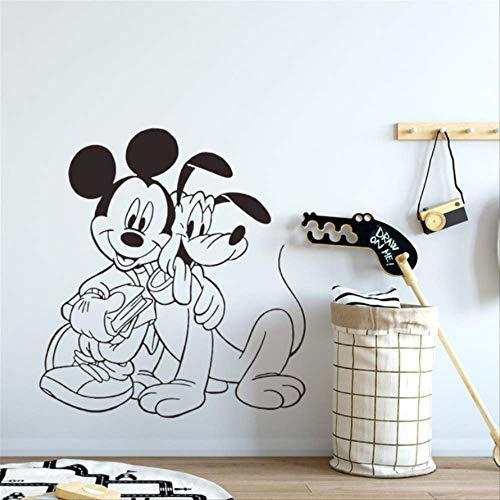 hzcl Mickey & Pluto Home Decor Pared Calcomanías Pared Transfers Home Art Decorat Pegatinas De Pared para Niños Habitaciones Mural Poster