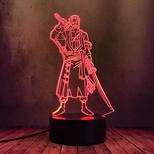 Anime Roronoa Zoro One Piece Figur LED Nachtlicht