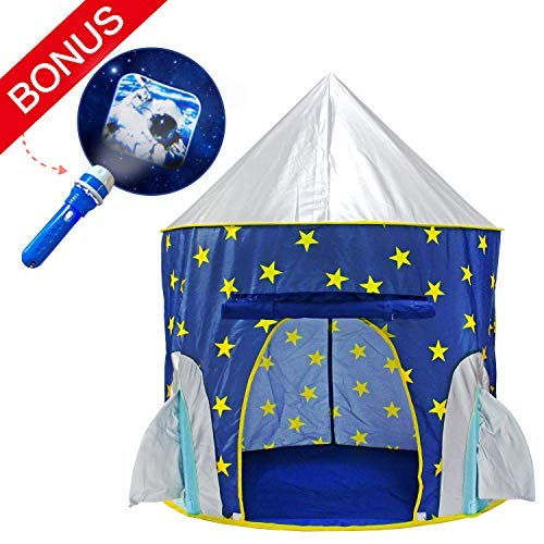 Yoobe Rocket Ship Play Tent - with BOUNS Space Torch...