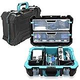 Navaris Techniker Werkzeugkoffer 20 1/2' leer - 52,5 x 38,9 x 19cm - mit 2 Stahlschließen mehrere Fächer 2 Organizer Boxen - Koffer ohne Werkzeug