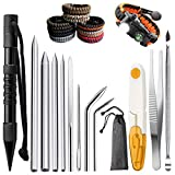 12 Pack Marlin Spike - Paracord Stitching Set with Lacing Needles/Fids, 9 Different Size Aluminum Paracord FID Lacing Needles and Smoothing Tool, Suit for Paracord or Leather Work Paracord FID Set