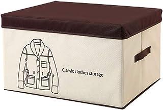 XAGB Boîte de Rangement, paniers de Rangement Pliables en Tissu avec couvercles et poignées Couverture de vêtements de con...