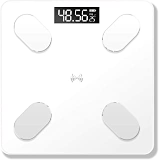 HYY-YY - Báscula de pesaje con pantalla LED, báscula de peso electrónica, análisis de composición corporal, báscula de baño para casa inteligente, 180 kg
