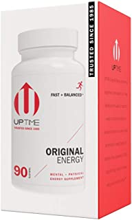UPTIME - Premium Energy Caffeine Supplement - Original Blend Tablets - 90ct Bottle - Zero Calories