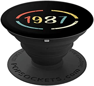 Retro Birthday Gift - Vintage Born in 1987 PopSockets Grip and Stand for Phones and Tablets