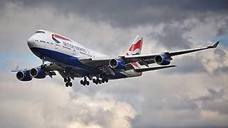 絵画風 壁紙ポスター (はがせるシール式) ブリティッシュ・エアウェイズ BA ボーイング 747-400 ジャンボジェット 1989年運用開始 British Airways BOEING キャラクロ B747-011S1 (1024mm×5...