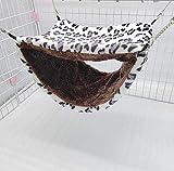 EPRHAN Hamster Hamster de doble capa colgante casa invierno pequeños animales jaula jugar dormir nido cama mascota rata juguetes columpio cobayas ardilla jerbils jaula accesorios
