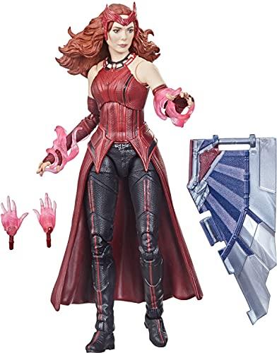 Avengers Hasbro Marvel Legends Series Figura de la Bruja Escarlata de 15 cm - Diseño Premium y 4 Accesorios - Edad: 4+