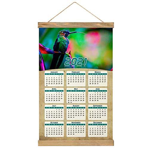 "Costa Rica Imprimir Póster Calendario de Pared 2021 12 Meses Pintura decorativa Cuadros Colgantes Lienzo Madera 20.4 ""x 13.1"" GL-Costa Rica-1214"