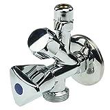 Sanixa GO13030 - Valvola ad angolo combinato per lavatrice/frigorifero/distributore di acqua