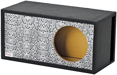 Atrend GFX Series 15LSVBB Reptile Style Snake Skin Pattern Single Vented SPL 15 Subwoofer Enclosure product image