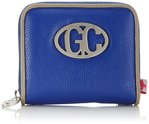 Poodlebag Unisex-Erwachsene German Couture-Cash Small Münzbörsen, Blau (blue/stone), 12x3x10 cm