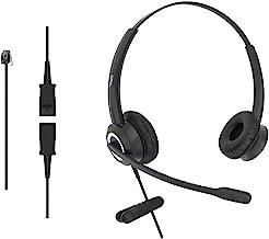 $49 » DailyHeadset RJ9 Corded Office HD Voice Headset for Aastra Avaya Allworx AltiGen Digium IPitomy IP Phone Noise Canceling (...
