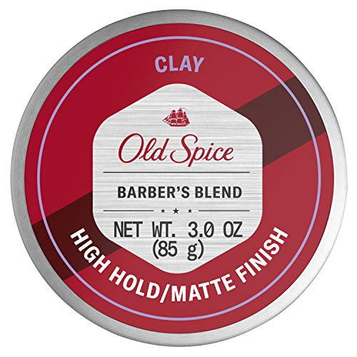 Old Spice Hair Styling Clay for Men, High Hold/Matte Finish, Barber's Blend Infused with Aloe, 3 Ounce