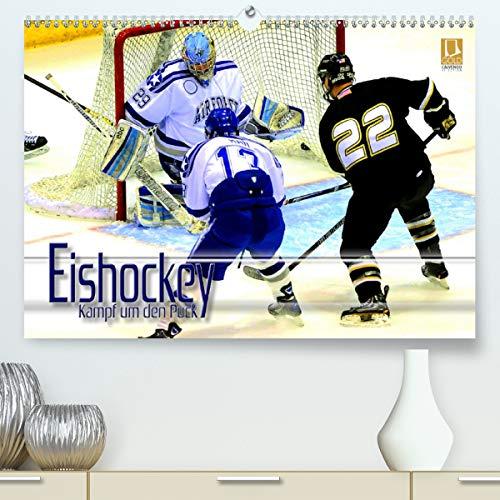 Eishockey - Kampf um den Puck (hochwertiger DIN A2 Wandkalender 2021, Kunstdruck in Hochglanz)