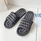 Nwarmsouth Zapatillas de casa de Fondo Suave,Zapatillas de baño Antideslizantes, Sandalias con Fugas de baño-Negro_42-43,Zapatos de Playa y Piscina