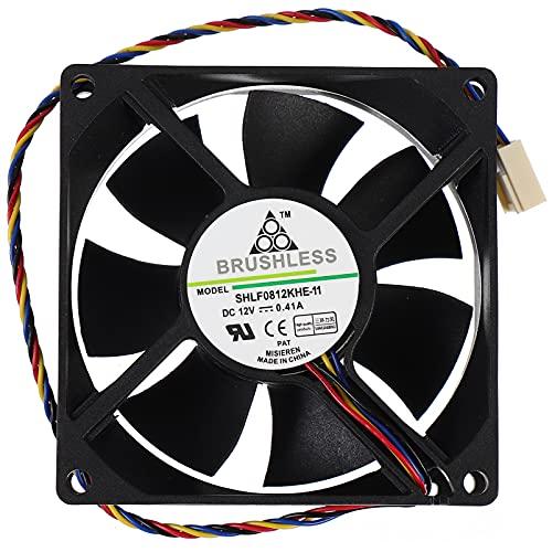 SOLUSTRE Ventilador de Chasis de 4 Cables Enfriador de Ordenador Radiador Profesional Ventilador de Refrigeración Creativo