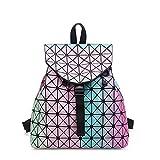 YULAN-Geométrico Mochilas Hombro Bolso para Mujer Rainbow Bookbags para Estudiante...